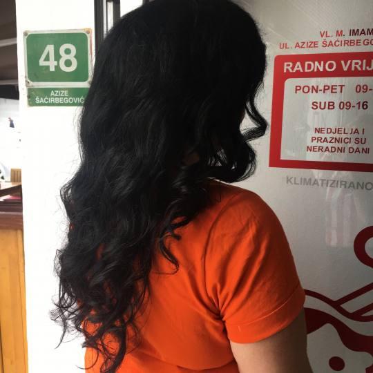 Frisco #sarajevo Svečane i frizure za svadbu Lokne na figaro - ekstra duga kosa